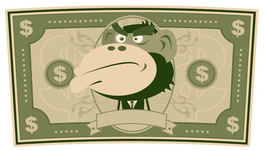 Soldi divertenti - Cartoon US Dollar vettore