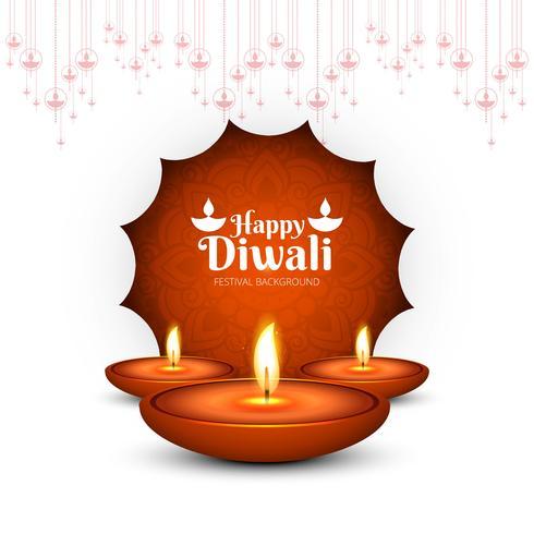 Bunte dekorative Rückseite der schönen diwali Festival-Grußkarte