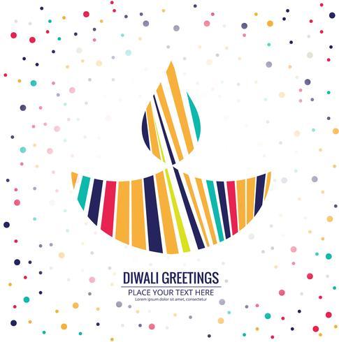 Kreativer bunter Festivalhintergrund für glückliches Diwali-Design