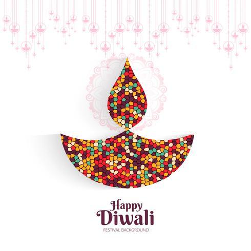 Fondo de festival colorido creativo para diseño feliz diwali