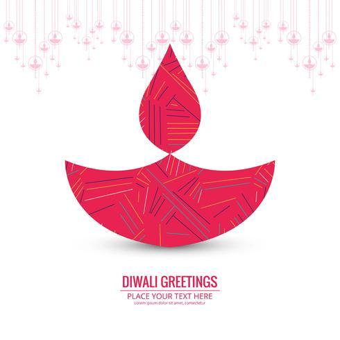 Kreativ färgstark festivalfestival för lycklig diwali design