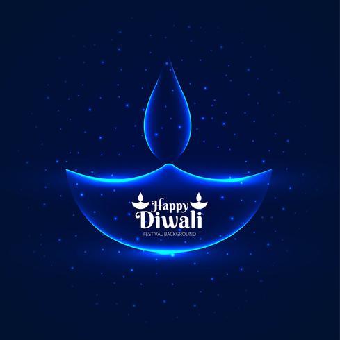 Vacker diwali festival hälsningskort färgstark dekorativa tillbaka