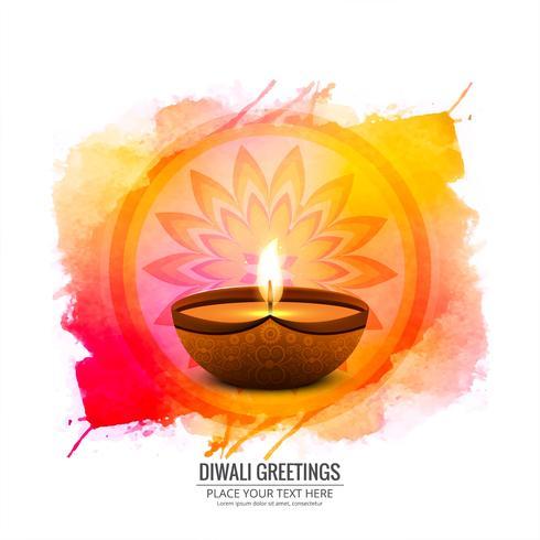 Elegant Glad Diwali dekorativa färgstarka bakgrunds vektor
