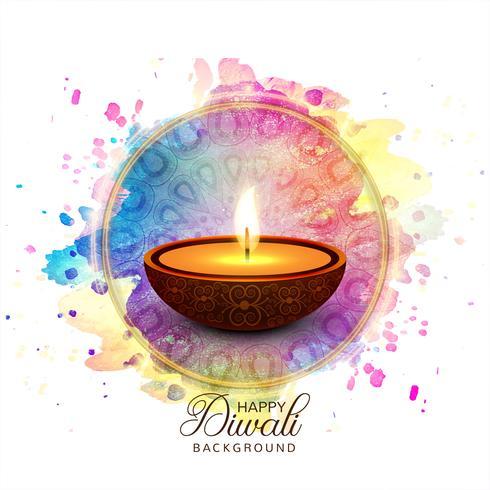 Glücklicher diwali diya Öllampenfestival-Kartenhintergrund