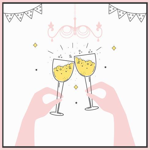 champagne toast vektor