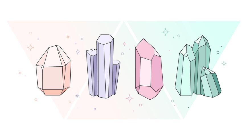 Vecteur de cristaux