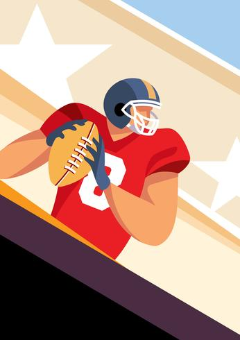 Football Player Vintage Card vector