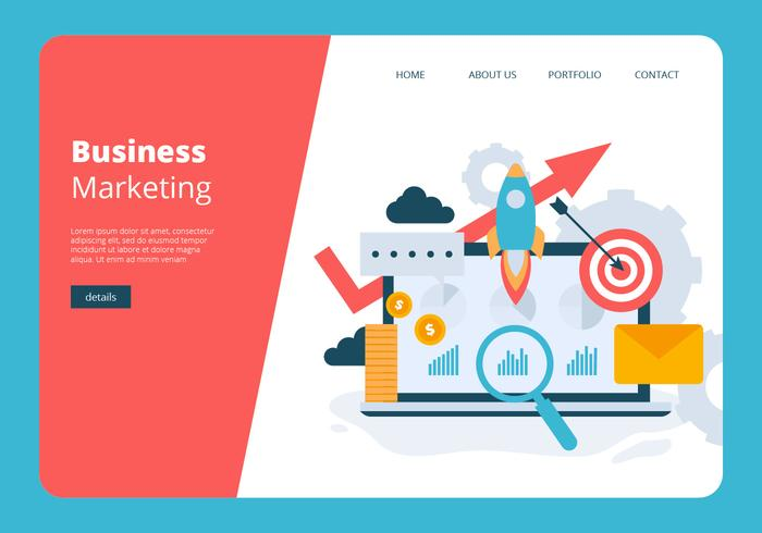Zakelijke Marketing Banner Vector sjabloon