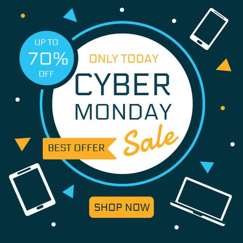 Cyber ​​Monday Sale-Social-Media-Beitragsvorlage