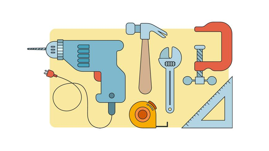 timmerman gereedschap vector