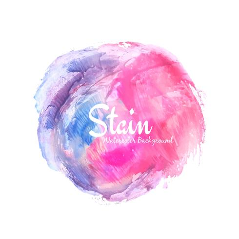 Abstract colorful watercolor stain design background
