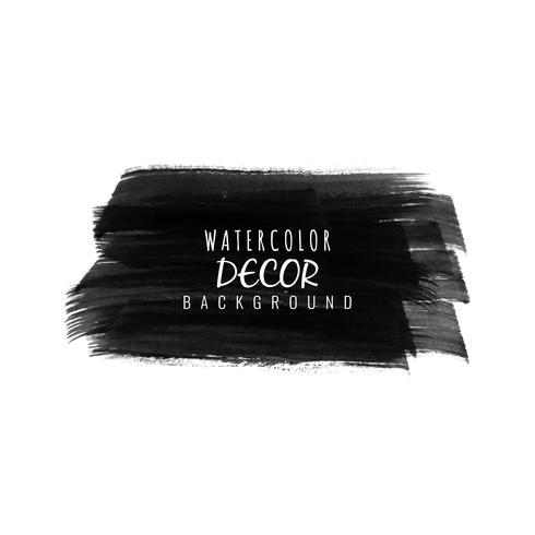 Abstract black watercolor stain design modern background