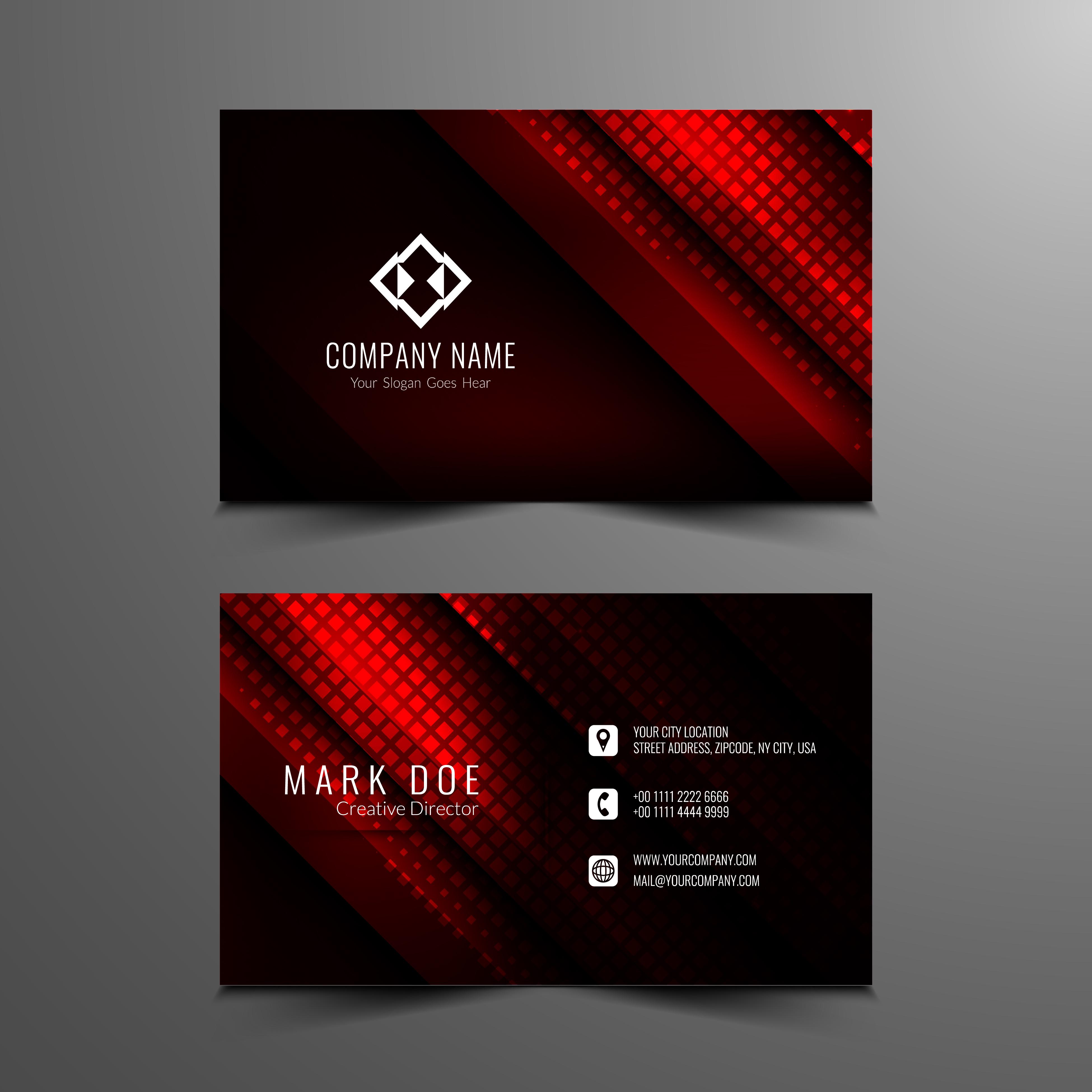 Abstract Modern Business Card Template Design