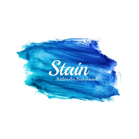 Abstract bright blue watercolor stain design