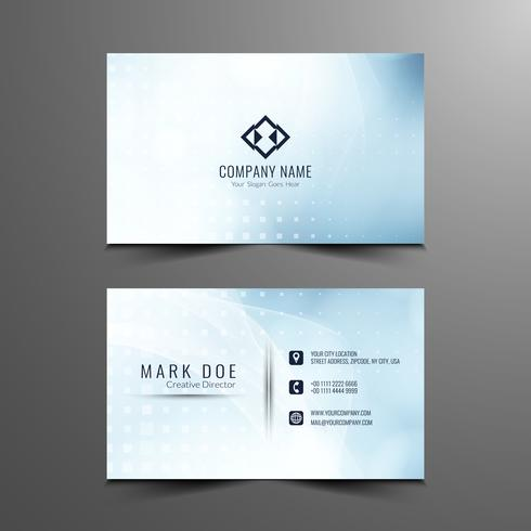 Abstract stylish wavy business card template design
