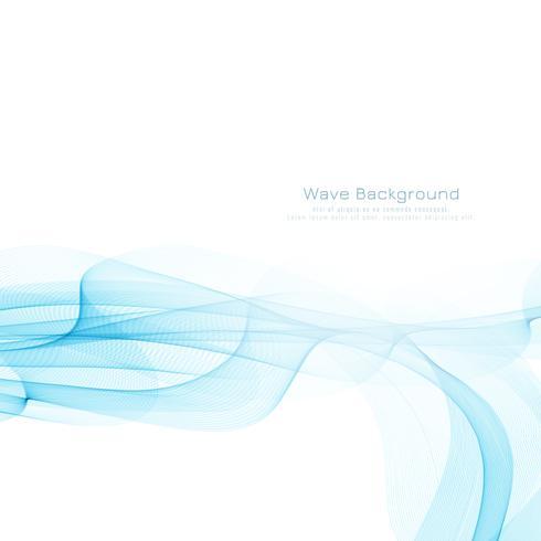 Design de fundo abstrato elegante onda azul