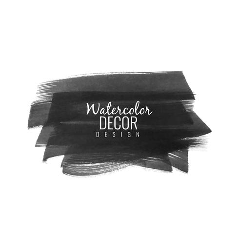 Abstract black watercolor brush stroke design background