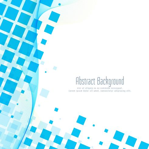 Abstract blue mosaic wavy background