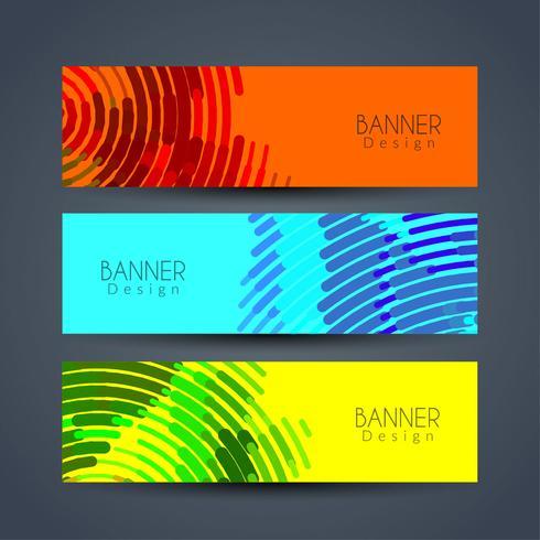 Set di bandiere astratte elegante