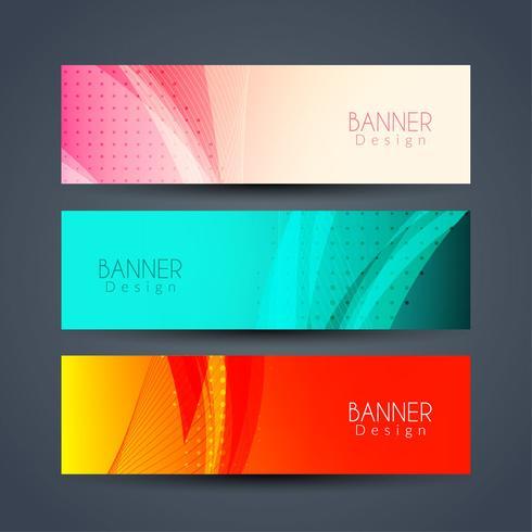 Abstrakt eleganta banderoller uppsättning