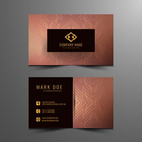 Abstract modern business card design template