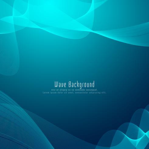 Abstrakt modern stilfull vågblå bakgrund