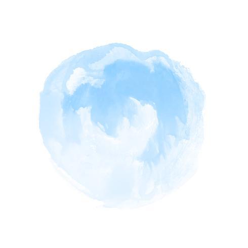 Aquarelle bleue abstrait design fond