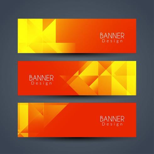 Sammanfattning moderna banderoller uppsättning