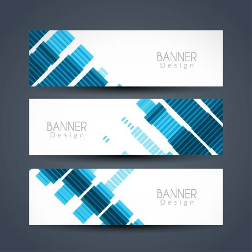 Abstract modern banners set