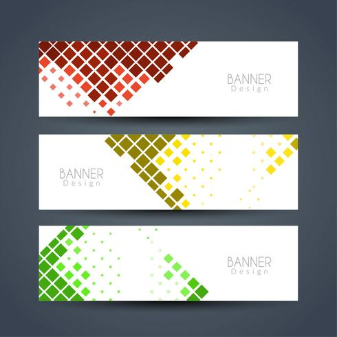 Abstract elegant banners set vector
