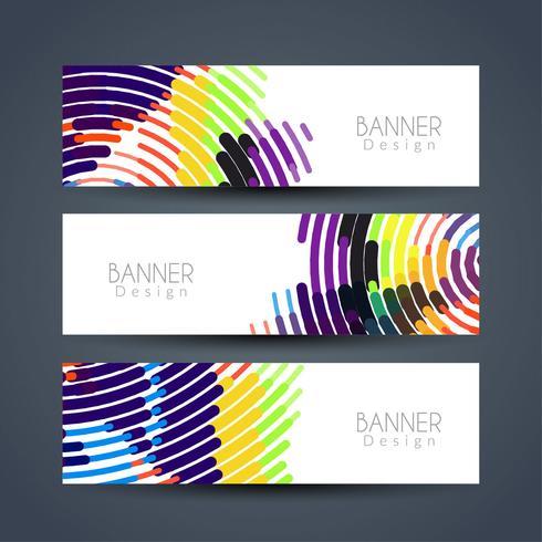 Abstracte moderne banners instellen