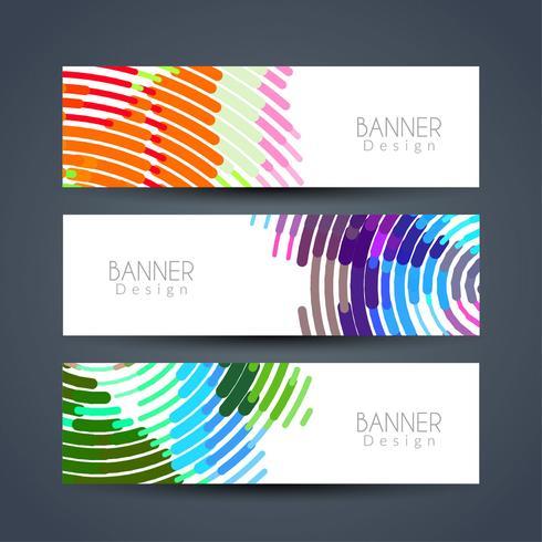 Abstract modern stylish banners set