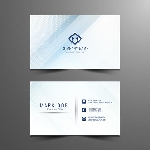 Abstract business card design template vector