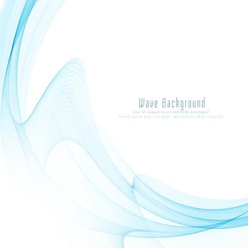 Abstrakt elegant blå våg bakgrundsdesign