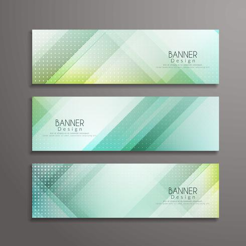 Sjabloon voor abstract moderne geometrische banners