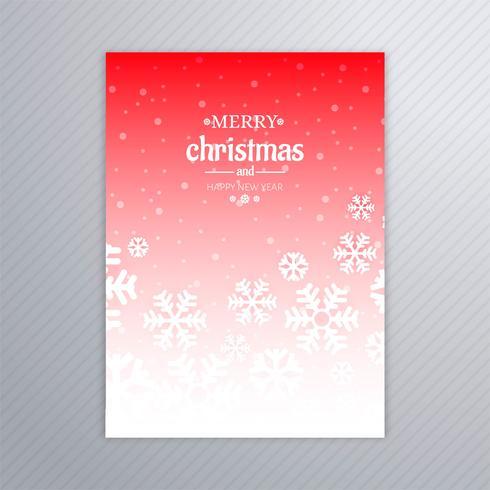Vacker affisch av snöflingor med abstrakt julboll desi