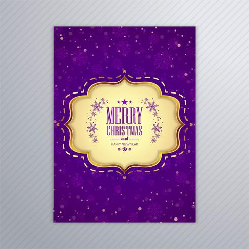 Bello manifesto della carta di Buon Natale con il modello B dell'opuscolo