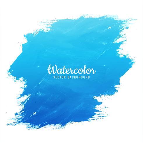 Watercolor blue splash design vector