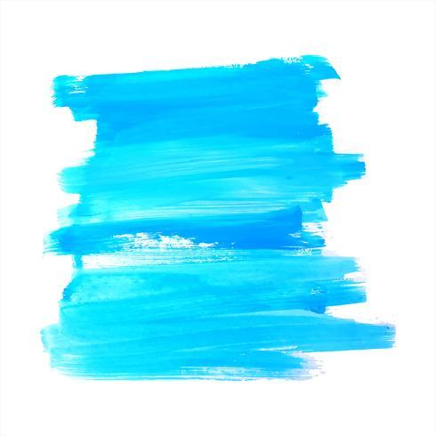 Projeto elegante do curso da aguarela azul abstrata