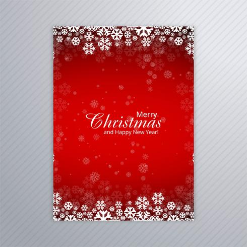 Beautiful Merry Christmas Party Poster Template Design Vector