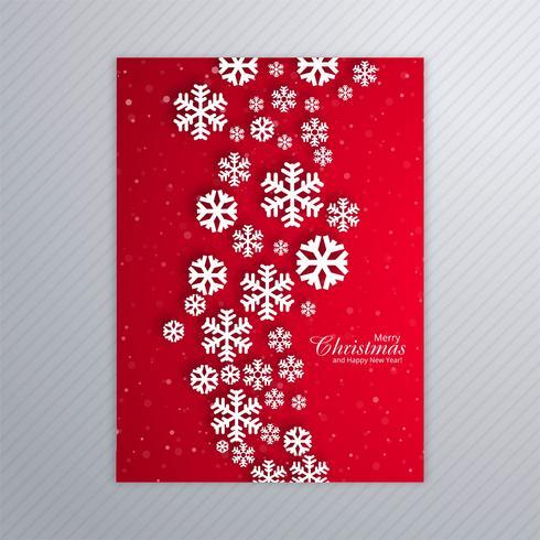 Belo pôster de flocos de neve com bola de Natal abstrata desi
