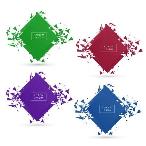 Beautiful Broken modern banner colorful set design