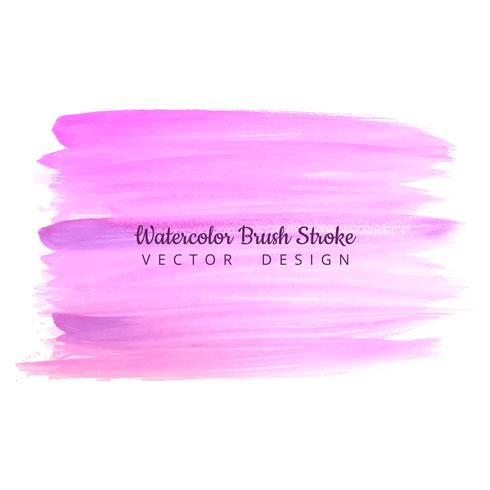 Beautiful watercolor colorful stroke brush design illustration
