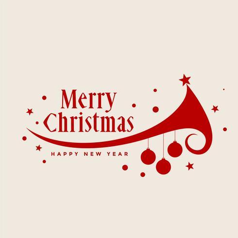 Merry christmas tree decoratie achtergrond