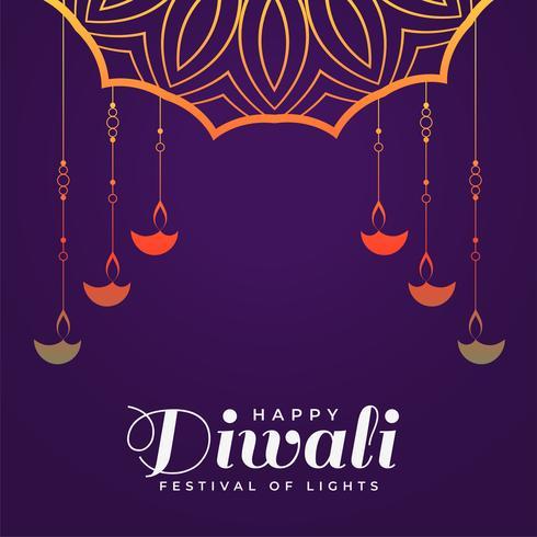 modèle de fond créatif joyeux diwali hindou festival