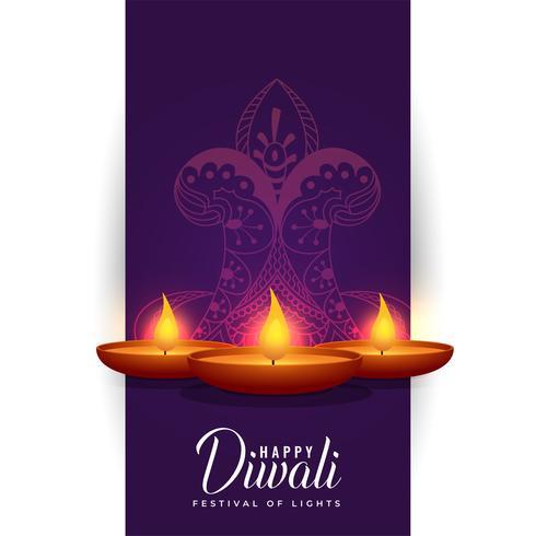happy diwali indian festival background design