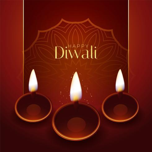 Happy Diwali traditionelles Festival Gruß Design