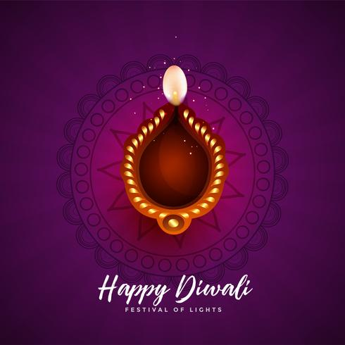 artistic background for happy diwali festival