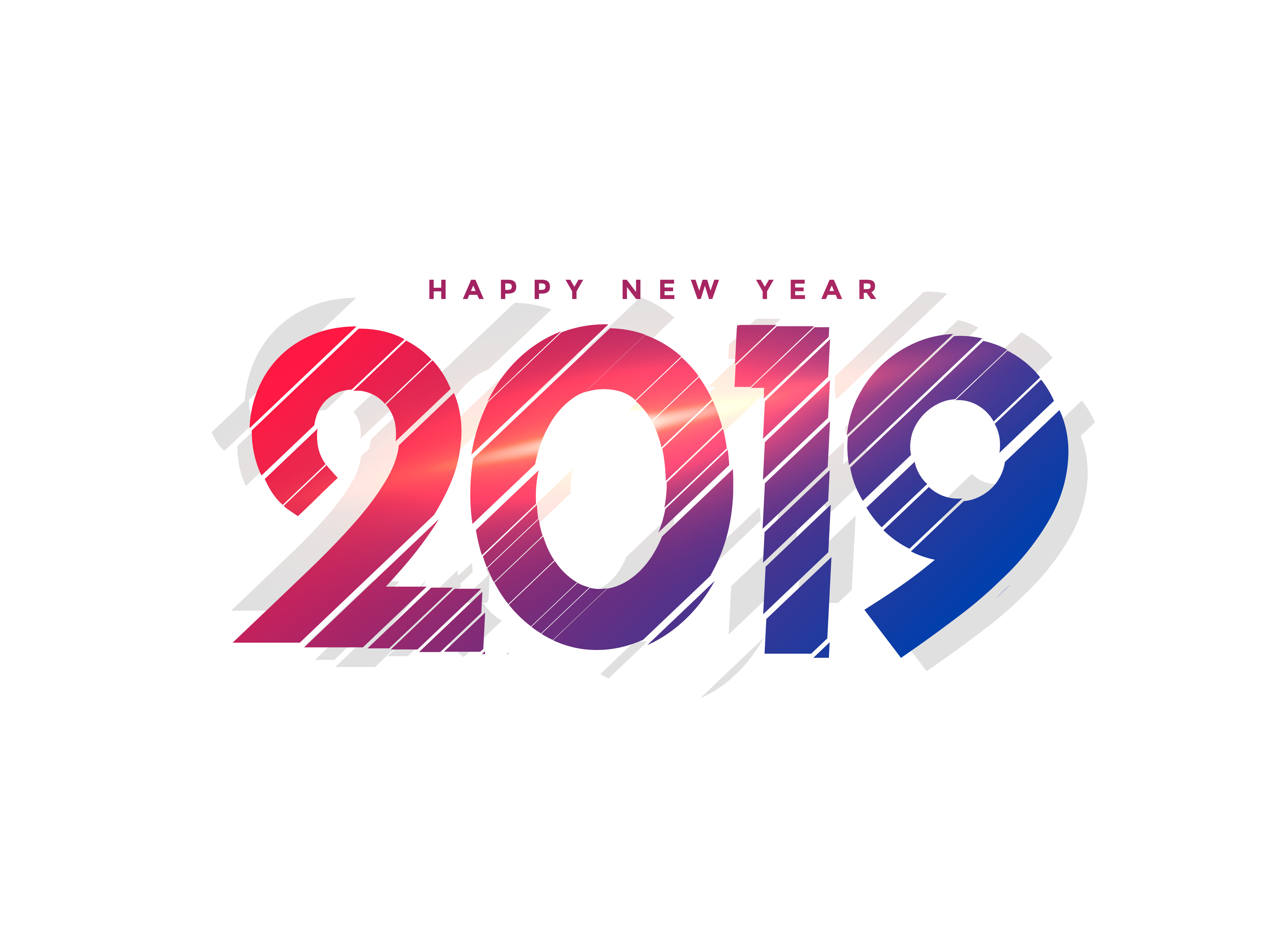 abstract new year 2019 creative lettering - Download Free