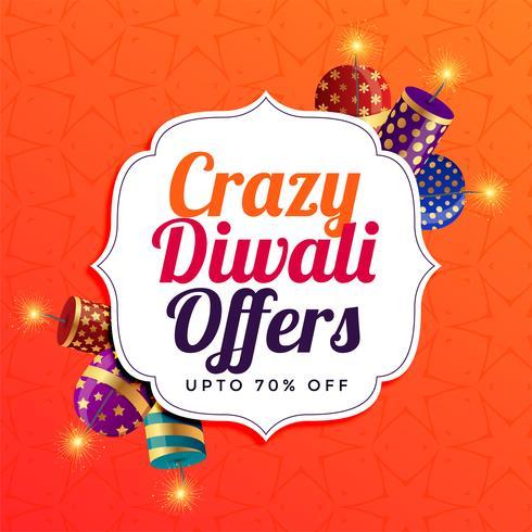 diwali försäljning bakgrund med crackers